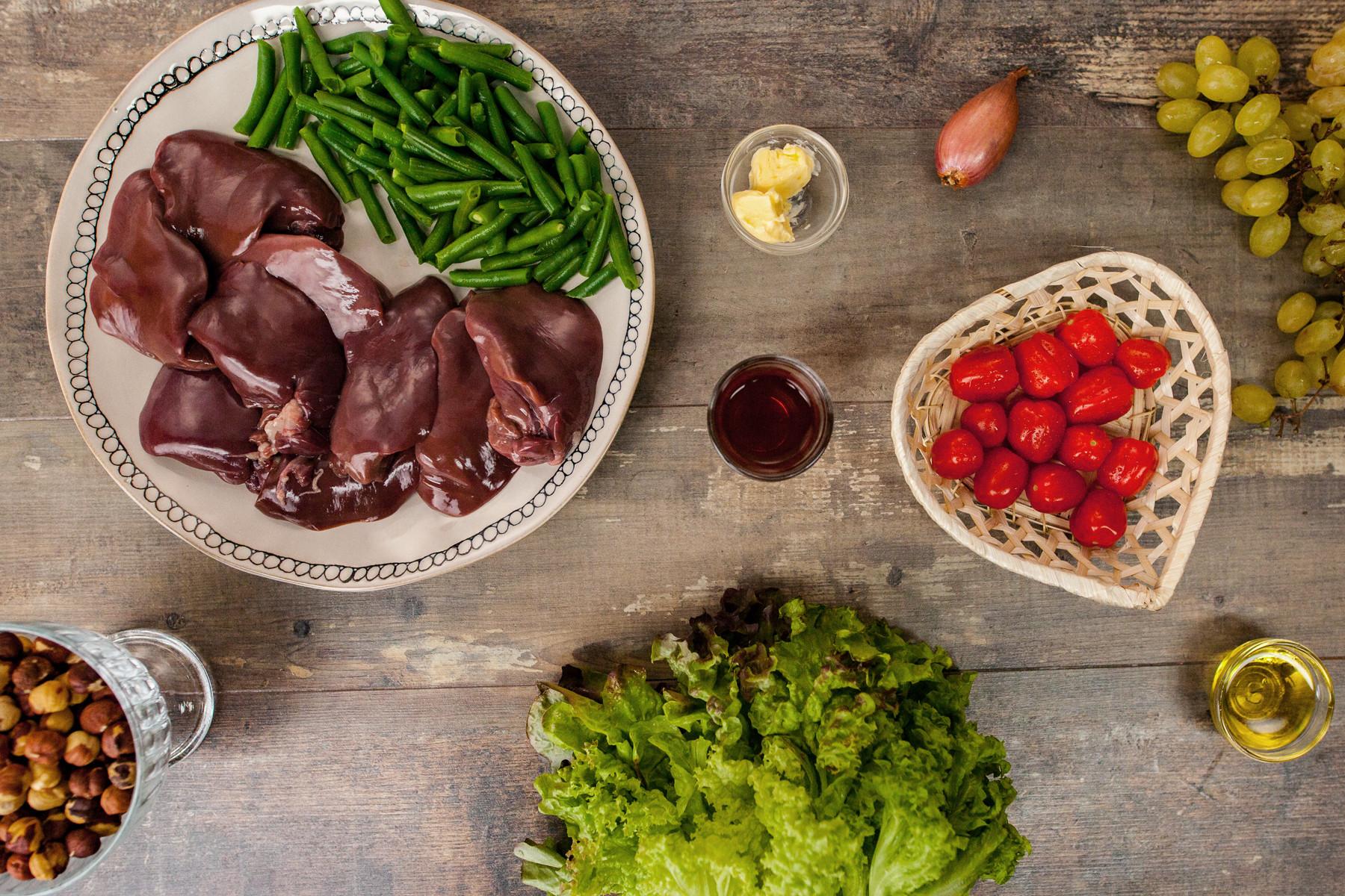 как приготовить печень в белом вине