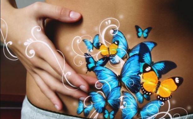 откуда появляются бабочки в животе