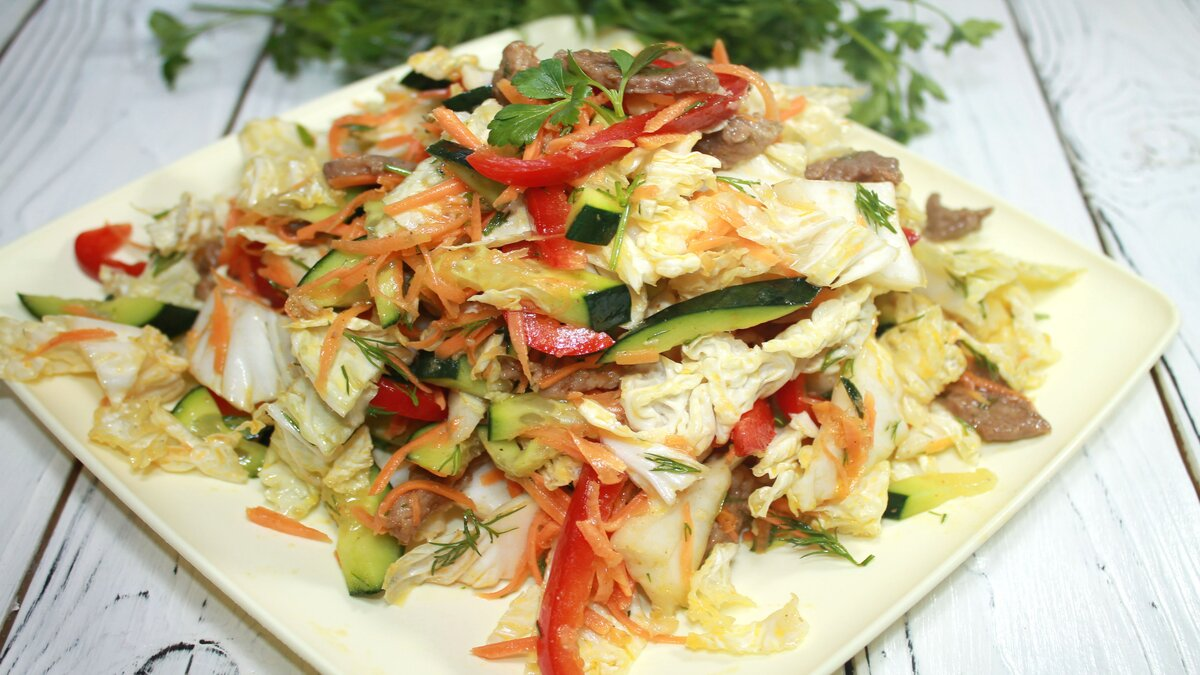 салат легкий из пекинской капусты