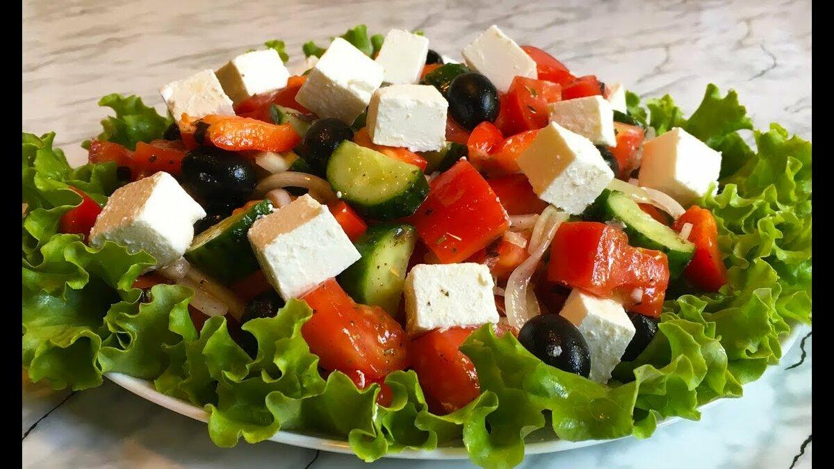 Рецепты легких летних салатов греческий