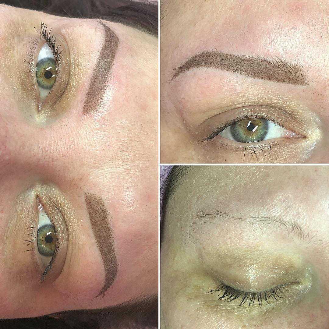 конечный результат перманентного макияжа глаз