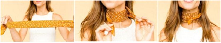 как завязывать платок на шее