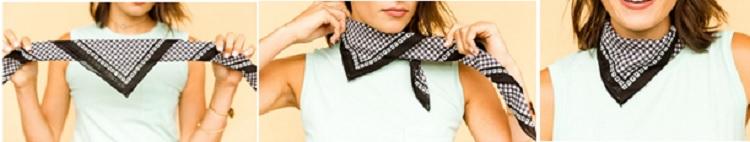 как завязать красиво платок