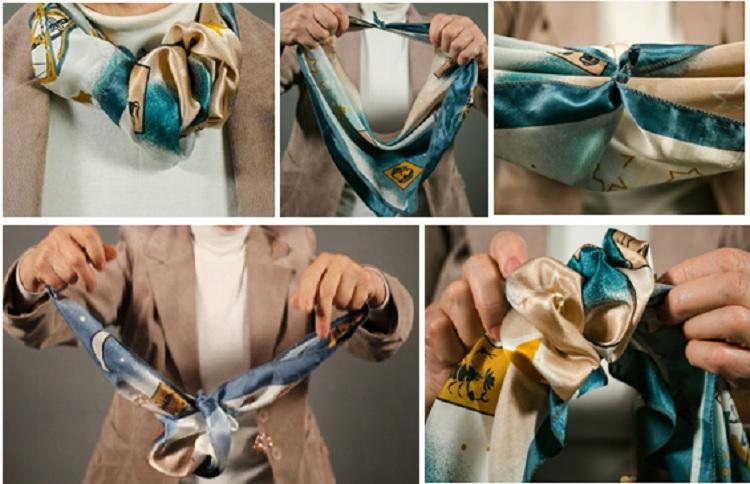 завязать платок романтической розочкой