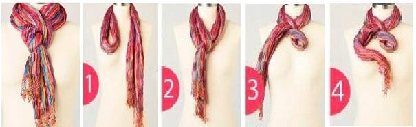 как завязать платок плетенку