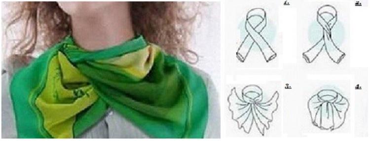 как завязать платок легкая бабочка