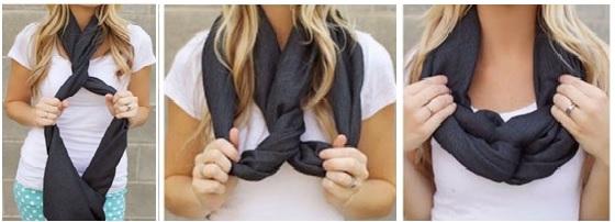 как заязать платок на шее