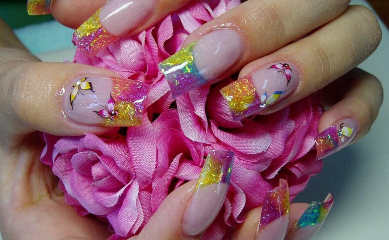 дизайн аквариумный ногтей