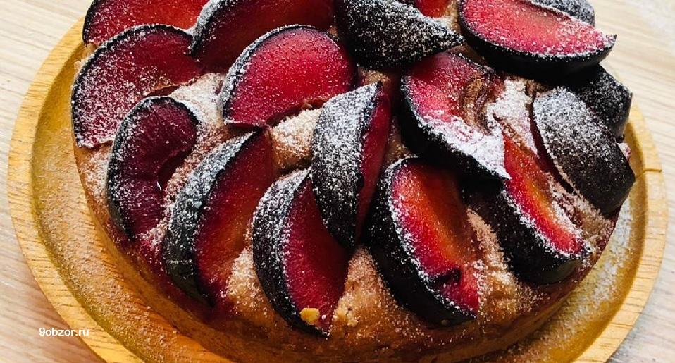 пирог из слив